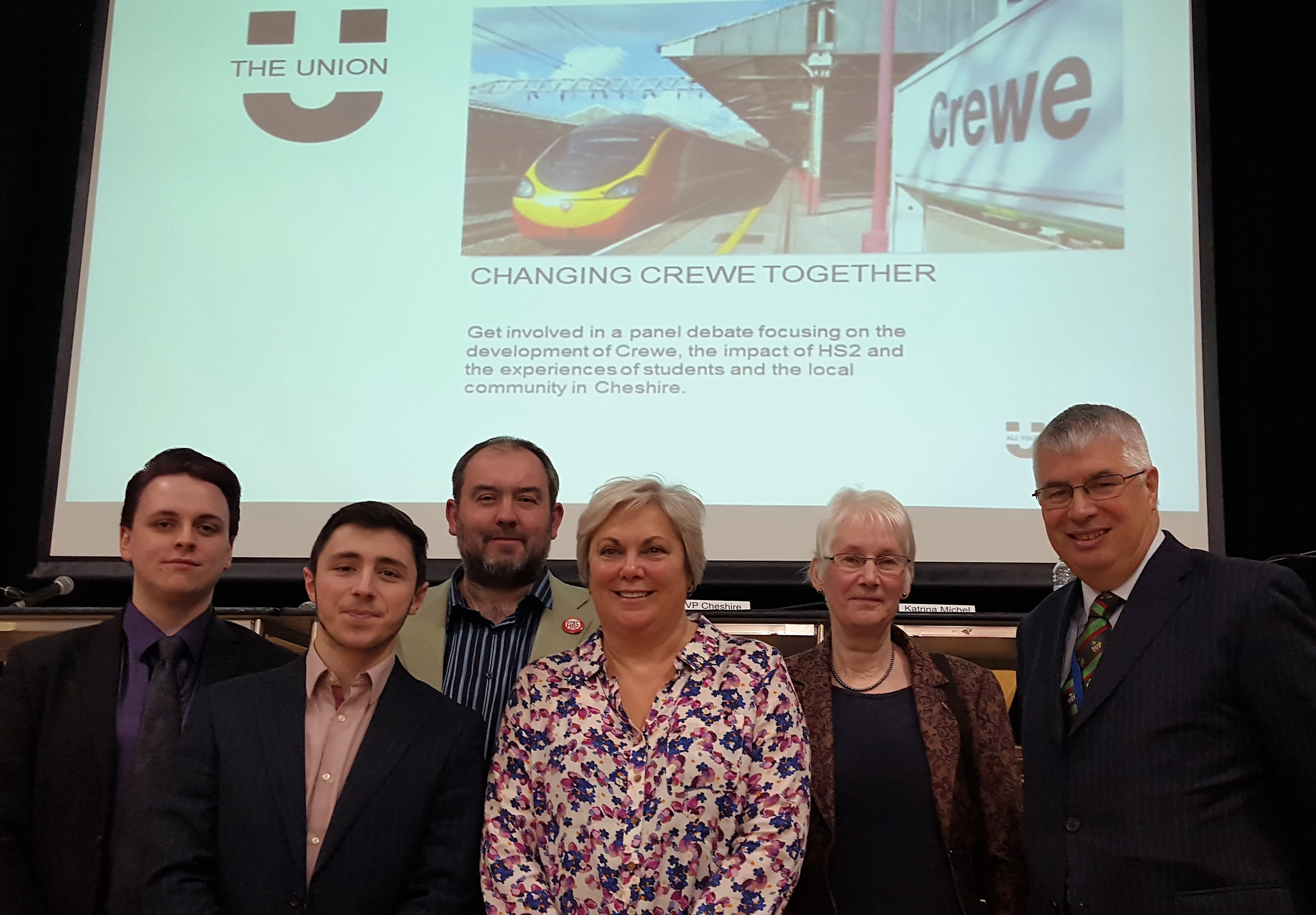HS2 debate panel from MMU Cheshire in Crewe
